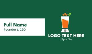 Fruit Juice Blender Business Card