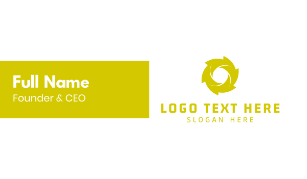 turbine - Green Spiral Business card horizontal design