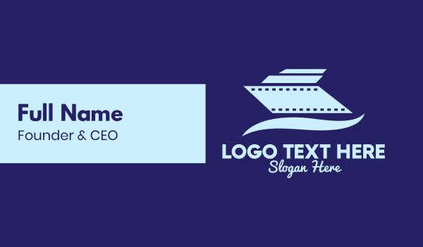 theater - Cruise Ship Film Business card horizontal design