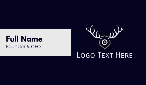 antlers - Hunt Target Business card horizontal design