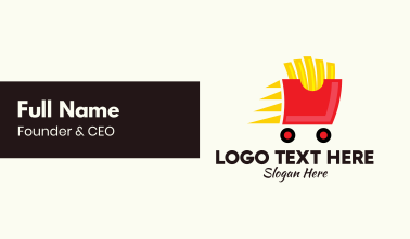 French Fries Delivery Business Card