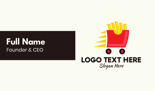 fastfood - French Fries Delivery Business card horizontal design