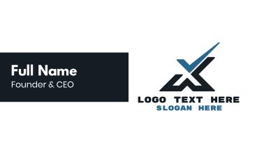Tech Check X Business Card