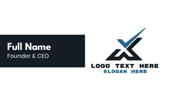 verify - Tech Check X Business card horizontal design