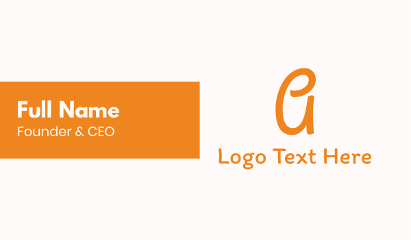 act - Friendly Letter A Font Business card horizontal design