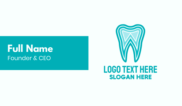 lineart - Blue Tooth Dentist Business card horizontal design