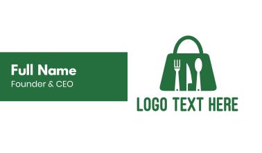Green Bag Restaurant  Business Card