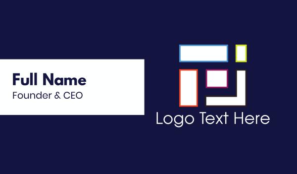 rectangle - Geometric Shapes Business card horizontal design