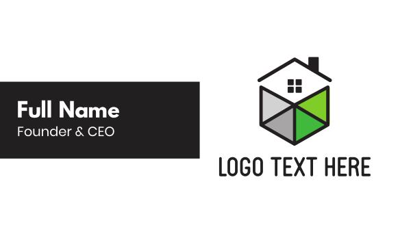 home services - Cube Hexagon Home Business card horizontal design