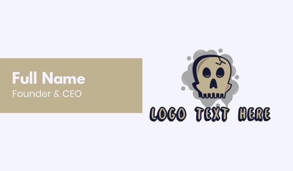 spooky - Skull Graffiti Art Business card horizontal design