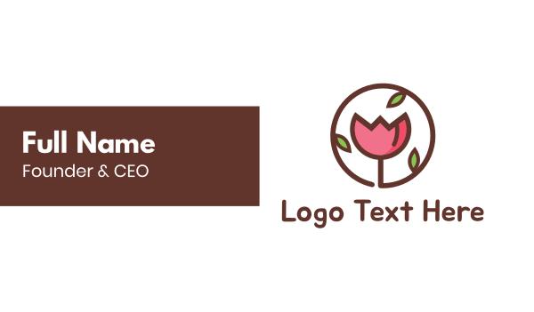dutch - Flower Circle Business card horizontal design