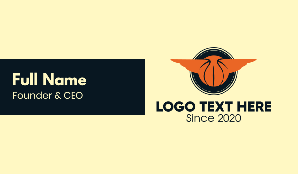 nba - Basketball Wings Emblem  Business card horizontal design