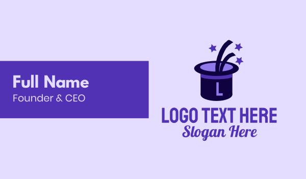 headwear - Magic Hat Lettermark Business card horizontal design
