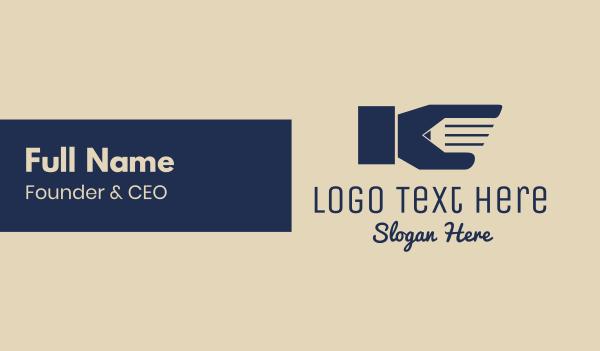 finger - Pencil Hand Business card horizontal design