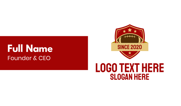 football equipment - Gridiron American Football Team Business card horizontal design