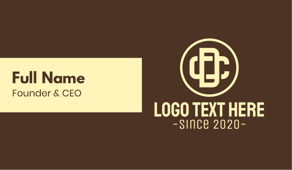 dc - Brand Monogram D & C Business card horizontal design