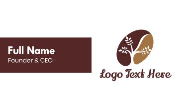 Organic Coffee Bean Business Card
