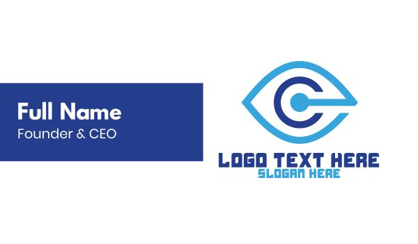 sight - Blue C Vision Business card horizontal design