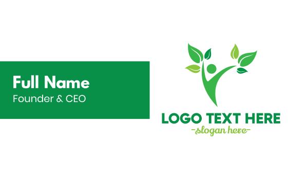 arborist - Human Plant Business card horizontal design