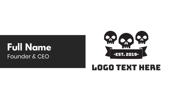 special forces - Skull Gang Business card horizontal design