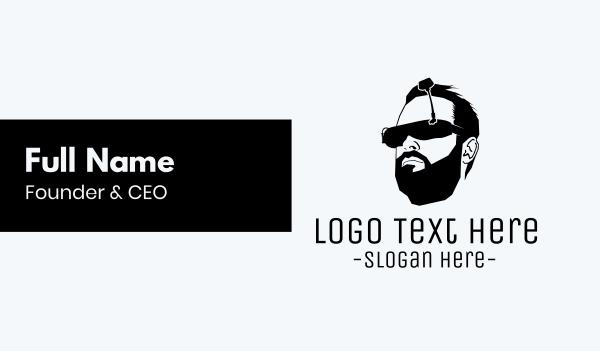 thug - Virtual Glasses Business card horizontal design