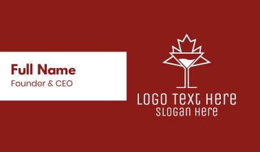 Canada Maple Leaf Drink Business Card