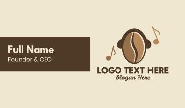 Coffee Bean Cafe Music Business Card