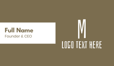Brown Letter M Business Card