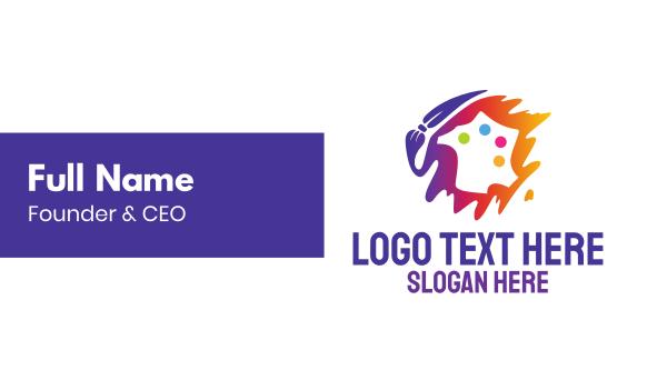lgbt - Art Paint Palette  Business card horizontal design