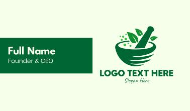 Green Natural Herbal Medicine Business Card