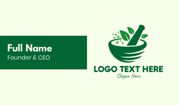 ingredients - Green Natural Herbal Medicine Business card horizontal design