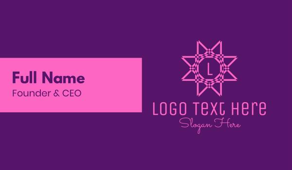 decoration - Pink Star Decorative Letter Business card horizontal design