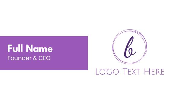 classy - Elegant Letter B Business card horizontal design