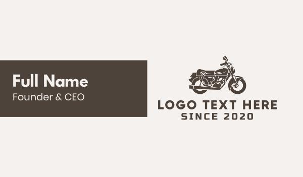 cruiser - Brown Motorbike Business card horizontal design