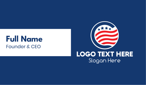 stars and stripes - Stars & Stripes Badge  Business card horizontal design