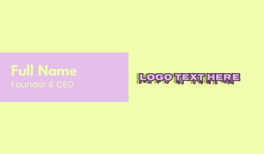 Purple Slime Text Business Card