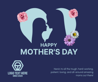Heart Mother's Day Facebook post