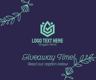 Floral Abstract Giveaway Facebook post