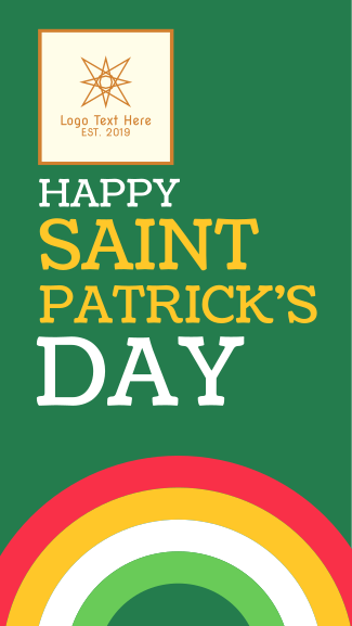St. Patrick's Day Facebook story