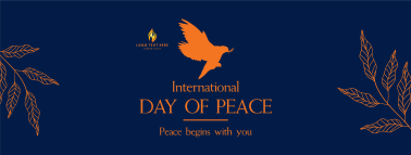 Day Of Peace Dove Facebook cover