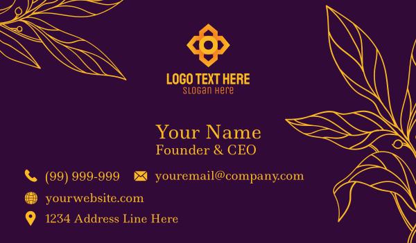 plants - Floral Business card horizontal design
