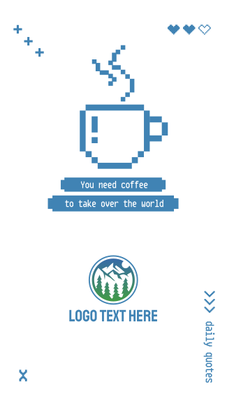 Coffee Pixel Quote Facebook story