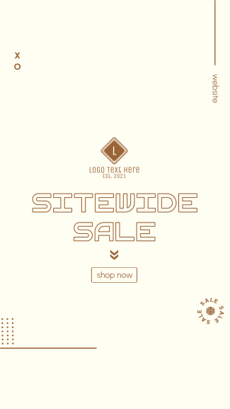 Sitewide Sale Facebook story