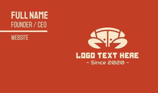 usb - Technology Yellow Crab Business card horizontal design