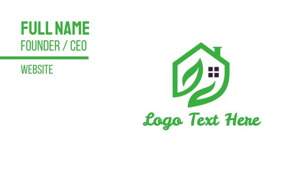 tea house - Greenhouse Business card horizontal design