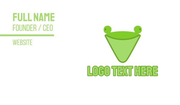 swamp - Abstract Green Frog Cone Business card horizontal design