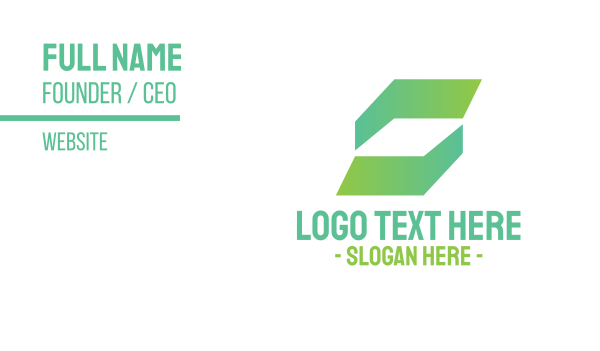 security - Abstract Green Business Business card horizontal design