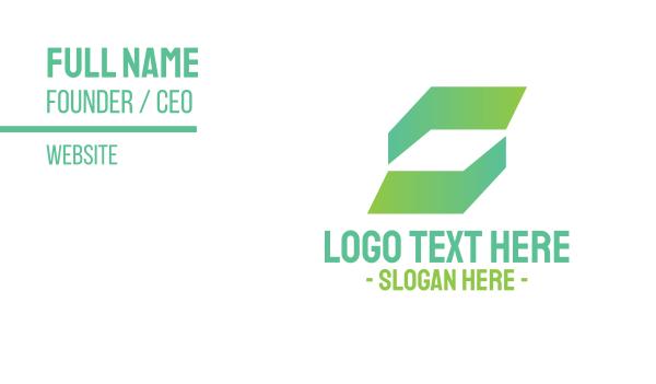 lending - Abstract Green Business Business card horizontal design