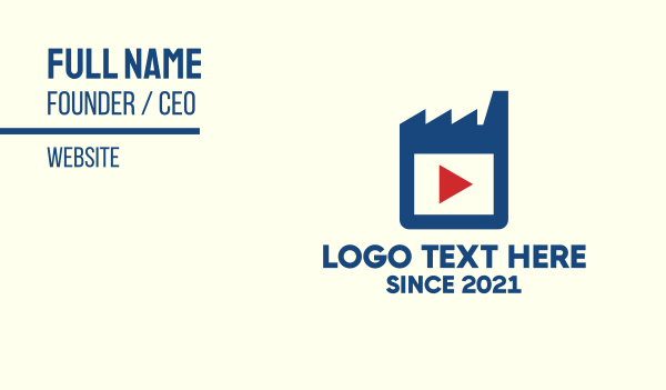 recording - Movie Industry Business card horizontal design