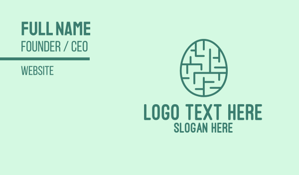 easter sunday - Easter Egg Maze  Business card horizontal design